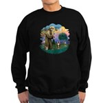 St Fran (ff) - Brown Tabby Cat Sweatshirt (dark)
