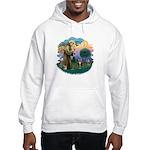 St Fran (ff) - Brown Tabby Cat Hooded Sweatshirt