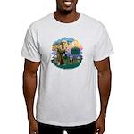 St Fran (ff) - Brown Tabby Cat Light T-Shirt