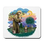 St Fran (ff) - Brown Tabby Cat Mousepad
