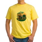 St Fran (ff) - Brown Tabby Cat Yellow T-Shirt
