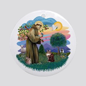 St. Fran (ff) - Maine Coon (#9) Ornament (Round)