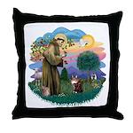 St. Fran (ff) - Maine Coon (#9) Throw Pillow