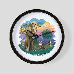 St. Fran (ff) - Maine Coon (#9) Wall Clock
