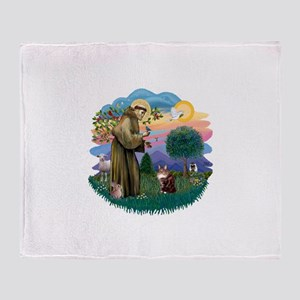 St. Fran (ff) - Maine Coon (#9) Throw Blanket