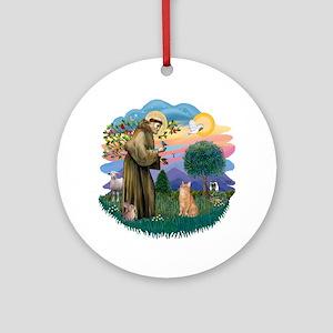 St. Fran. (ff) - Orange Tabby Ornament (Round)