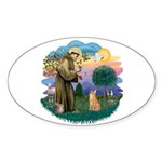 St. Fran. (ff) - Orange Tabby Sticker (Oval 10 pk)