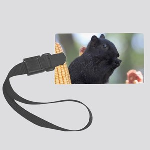 Black squirrel Luggage Tag