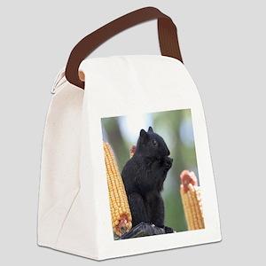 Black squirrel Canvas Lunch Bag