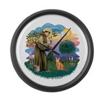 StFran(f)-Abyssin. (rd) Large Wall Clock