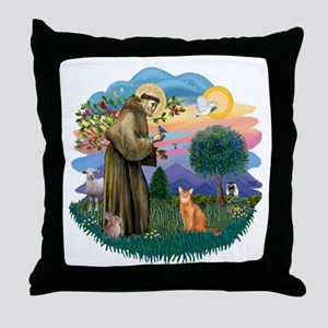 StFran(f)-Abyssin. (rd) Throw Pillow
