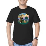 StFran(f)-Abyssin. (rd) Men's Fitted T-Shirt (dark