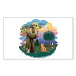 StFran(f)-Abyssin. (rd) Sticker (Rectangle 10 pk)