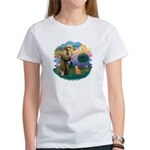 StFran(f)-Abyssin. (rd) Women's T-Shirt