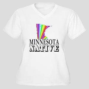 Minnesota native Women's Plus Size V-Neck T-Shirt