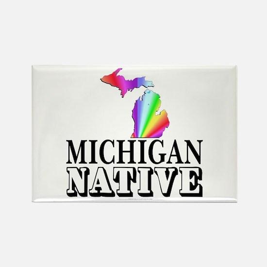 Michigan native Rectangle Magnet