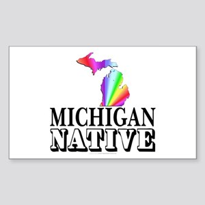 Michigan native Sticker (Rectangle)