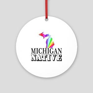 Michigan native Ornament (Round)