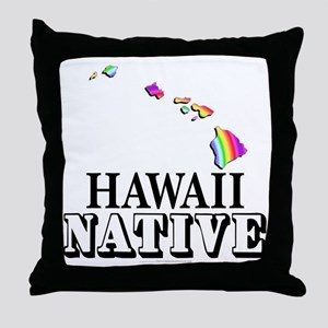 Hawaii native Throw Pillow