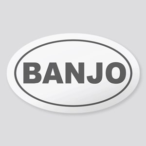 Banjo Music Sticker (Oval)