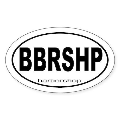 Barbershop Music Sticker (Oval)