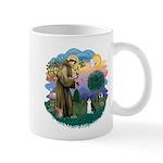 St Fran (ff) - Black/White cat Mug