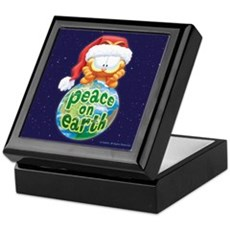 Peace On Earth Garfield Keepsake Box
