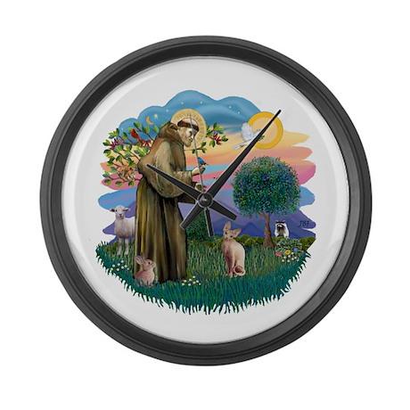 St Francis - Sphynx (fawn) Large Wall Clock