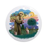 St Francis - Sphynx (fawn) Ornament (Round)
