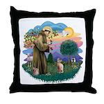 St Francis - Sphynx (fawn) Throw Pillow