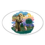 St Francis - Sphynx (fawn) Sticker (Oval 10 pk)