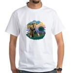 St Francis - Sphynx (fawn) White T-Shirt