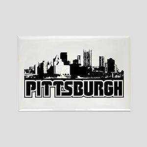 Pittsburgh Skyline Rectangle Magnet