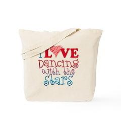 I Love Dancing wtih the Stars Tote Bag