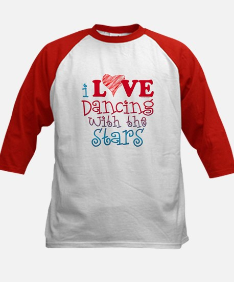 I Love Dancing wtih the Stars Kids Baseball Jersey