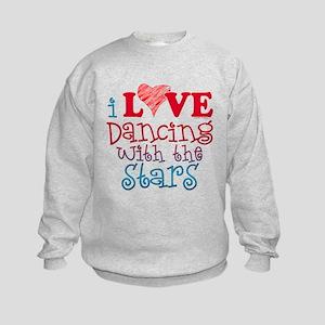 I Love Dancing wtih the Stars Kids Sweatshirt