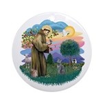 St Fran (ff) - Russian Blue (#2) Ornament (Round)
