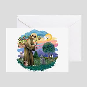 St Fran (ff) - Russian Blue (#2) Greeting Card