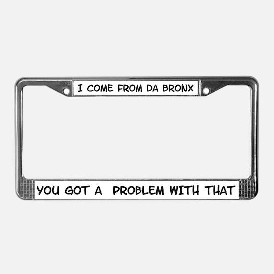 Bronx License Plate Frame