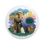 St Fran (ff) - 3 Persian Cats Ornament (Round)