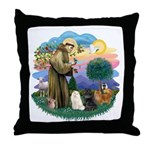St Fran (ff) - 3 Persian Cats Throw Pillow