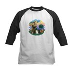 St Fran (ff) - 3 Persian Cats Kids Baseball Jersey