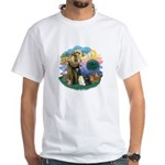 St Fran (ff) - 3 Persian Cats White T-Shirt