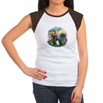 St Fran (ff) - 3 Persian Cats Women's Cap Sleeve T