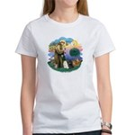 St Fran (ff) - 3 Persian Cats Women's T-Shirt