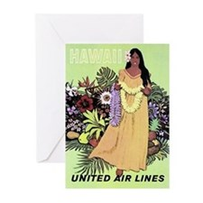 United Airlines 'Hawaii' Greeting Cards (Package o