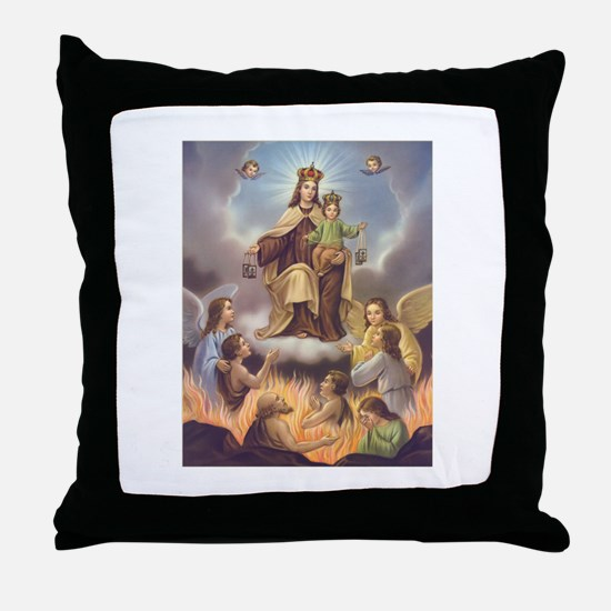 Our Lady of Mt. Carmel Throw Pillow