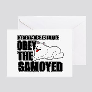 Obey The Samoyed Greeting Card