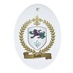 AYOTTE Family Crest Oval Ornament