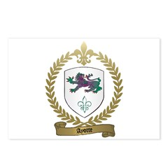 AYOTTE Family Crest Postcards (Package of 8)